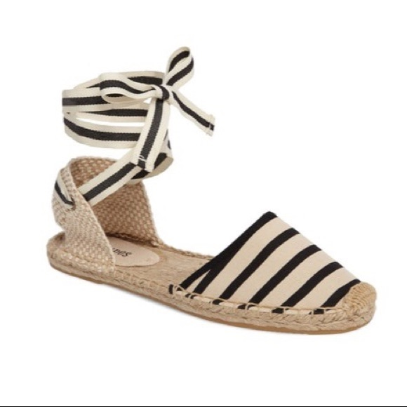 742053bea96 🆕Soludos Striped Lace-Up Espadrille Sandals. M 5b65f75c81bbc8cc074c98f4